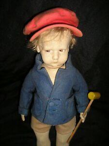 """Rare early Lenci # 1000  boy """"ROBERTO"""" - 17 inches"""