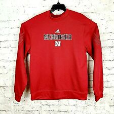 Nebraska Cornhuskers Adidas Climawarm Long Sleeved Red Shirt Sweatshirt Mens Lg