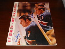 Vic Hadfield & Rod Seiling Auto Original 12/29/68 NY Rangers Signed Program