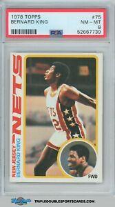 1978 Topps Basketball BERNARD KING ROOKIE RC #75 PSA 8 NM-MT