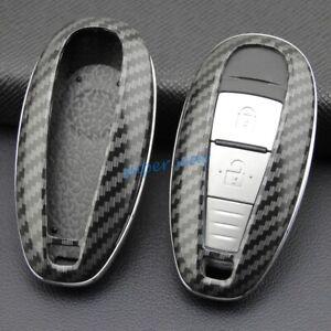 ABS Carbon Fiber Car Smart Key Cases Cover For Suzuki Kizashi Vitara SX4 S-Cross