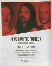 BIFFY CLYRO O2 SHEPHERDS BUSH EMPIRE FULL PAGE NEWSPAPER ADVERT FEB 20TH 2017
