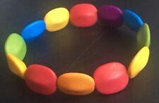 Multi Coloured Matte Cute Elasticated Bracelet