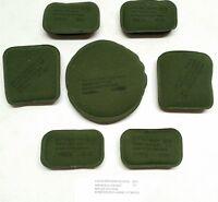 """USGI ACH MICH Helmet Pad Set 7-Piece 3/4"""" Olive Drab OD Green & Black NSN New"""