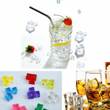 Acrylic Ice Cubes - Artificial Fake Plastic Crystal Display & Photography Props