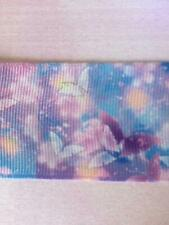"""Lilac/Blue Butterfly Grosgrain Ribbon. 1.5"""" (38mm)  Perfect for Hair Bows/Crafts"""