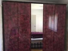 large wardrobe with sliding doors - collection only - needs dismantling