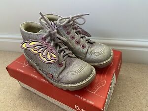 Girls Purple/lilac Hi Faerie Kicker Boots Size 13