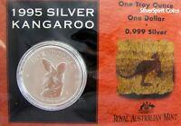 1995 KANGAROO SILVER 1oz Coin Carded