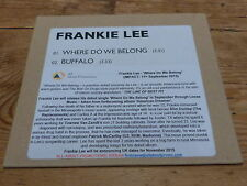 FRANKIE LEE - WHERE DO WE BELONG !!!!! !!!!!!!!!RARE CD PROMO!!!!!!!!!