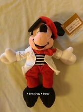 Disney MICKEY MOUSE FRENCH GLOBE TROTTING BEANIE Retired HTF Vintage TAG MINT