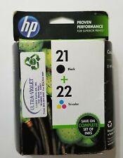 HP 21 + 22 Black & Tri-color Ink Cartridge Combo Set EXP 12/2015