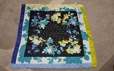 Foulard vintage scarf square woman 50x50  Nara Camicie Flower blue