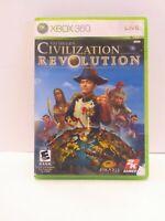 Sid Meier's Civilization Revolution (Microsoft Xbox 360, 2008) Case & Game