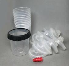 3M-16000/16001 PPS Standard/Medium Cup w/10 Lids/liners, 4 caps SHIPS FREE