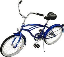 "Micargi JETTA-M-BL Men's 20"" Beach Cruiser Bicycle Bike, Blue Single Speed NEW"