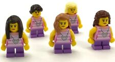 LEGO LOT OF 5 NEW GIRL MINIFIGURES PURPLE PANTS AND PINK SHIRT FRIENDS SISTERS