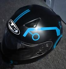 TRON STYLE HELMET STICKERS REFLECTIVE DECALS BE SEEN HI VIZ MOTORCYCLE HELMET FR