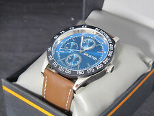Unlisted Kenneth Cole Men's Analog Brown Leather Band Watch UL 7780