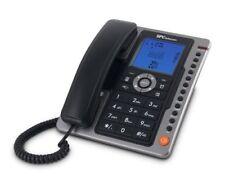 Teléfonos fijos inalámbricos negros de reloj