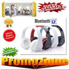 CUFFIE BLUETOOTH CUFFIA STEREO MICROFONO MP3 RADIO FM MICRO SD PC iPod Smartphon