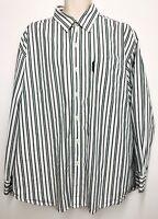 US POLO ASSN Gent's Striped Dress Shirt Size XL Button Down 100% Cotton EUC