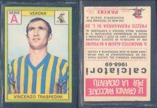 R@RA FIGURINA CALCIATORI PANINI 1968/69-VERONA,TRASPEDINI-NUOVA,PERFETTA,SUPER