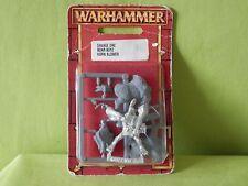 WARHAMMER Orchi & Goblin-SAVAGE ORC BOAR BOYZ CORNO Blower IN BLISTER fuori catalogo