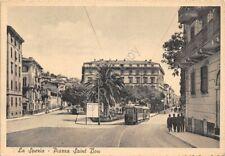 Cartolina La Spezia Piazza Saint Bon animata Tram anni '40 Alterocca Terni