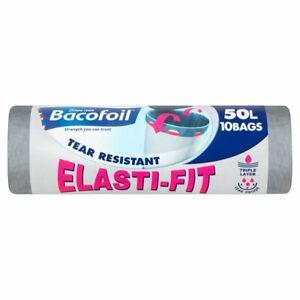 Bacofoil Elasti-Fit Bin Bags 50L