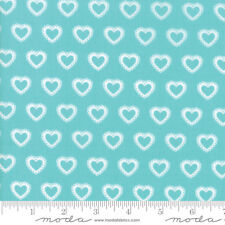 MODA Fabric ~ FIRST ROMANCE ~ by Kristyne Czepuryk (8404 16) Blue - by 1/2 yard