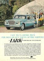 1959 STUDEBAKER LARK S.W. AUTOMOBILE ORIGINAL AD IN FRENCH