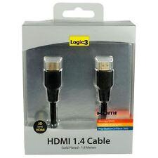 Logic3 LG097 Cable HDMI 1.4 chapado en oro 3D. Alta Velocidad - 1,8 metros