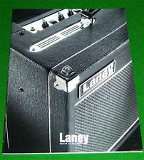 Laney Amplifier Catalogue: CUB NEXUS Tube Bass LH50, L5T LC50-112 NX115 VC30 RB5