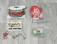 One Direction Wrist Band Set Necklace Key Chain Original Collectors Merchandise