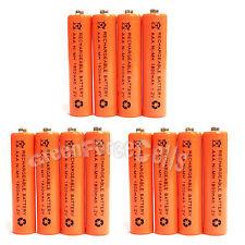 12 pcs Aaa 1800mAh NiMh 1.2V Rechargeable Battery Cell Rc Mp3 Orange Us Stock