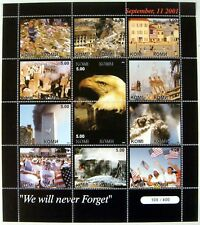 2001 Mnh Komi 911 Stamps Sheet 12 Twin Towers Stamps Tragedy September 11 2001