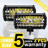 "400W 7""in CREE LED Work Lights Bar Spot Light Offroad Vehicle Truck Car Lamp 12V"
