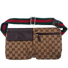 Gucci Cinturón Beige GG Lona Bolsa para hombro, cintura, Pack. 100% Auténtico! Raro!