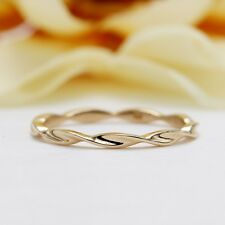 14K Yellow Gold Twisted Wedding Band/Matching Band for Engagement Ring/Stackable