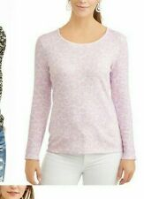 Time & Tru Long Sleeve Scoopneck T-Shirt Tee Top Blouse Scoop Neck 2X/3X #WTS