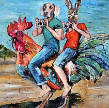 GILLIE AND MARC. Direct from artists. Authentic Art Print 'Rooster' 'Ride'