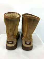 UGG Womens Ultimate Short Genuine Shearling Lined Boots Chestnut Size 6