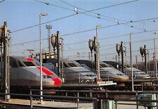 CP TRAIN TGV Rames 05 W A rame 317 bande rouge TGV  A sablières PHOTO WILLEMIN