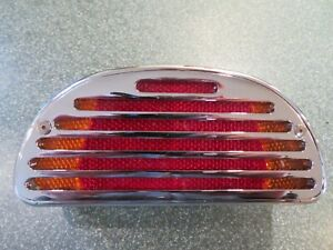 Pro One Billet Fat Bob Tail light with Turn Signals, chrome.