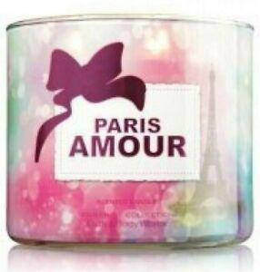 Bath Body Works PARIS AMOUR 3 Wick 14.5 oz Large jar Candle RARE SIGNATURE New