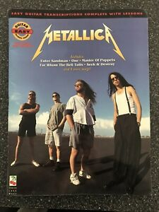 Metallica: Easy Guitar with Lessons, Volume 1 by Phillips (English) Music Book