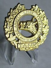 The Argyll Light Infantry Tank Military Cap Badge Old Style