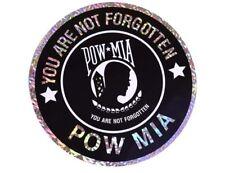 Wholesale Lot 6 POWMIA Pow Mia Military Flag Reflective Decal Bumper Sticker