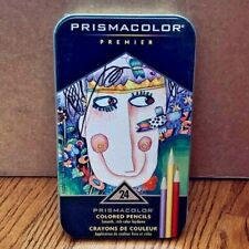 PRISMACOLOR PREMIER 24 Artist Colored Pencils in New Factory Sealed Tin